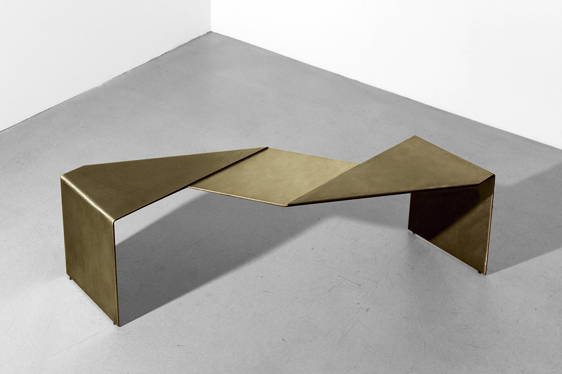 Uhuru is releasing a new collection of steel furniture called simply Fold.